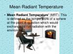 mean radiant temperature