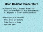 mean radiant temperature1