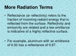 more radiation terms