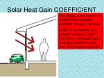 solar heat gain coefficient