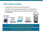 cisco nexus family