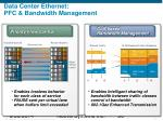 data center ethernet pfc bandwidth management