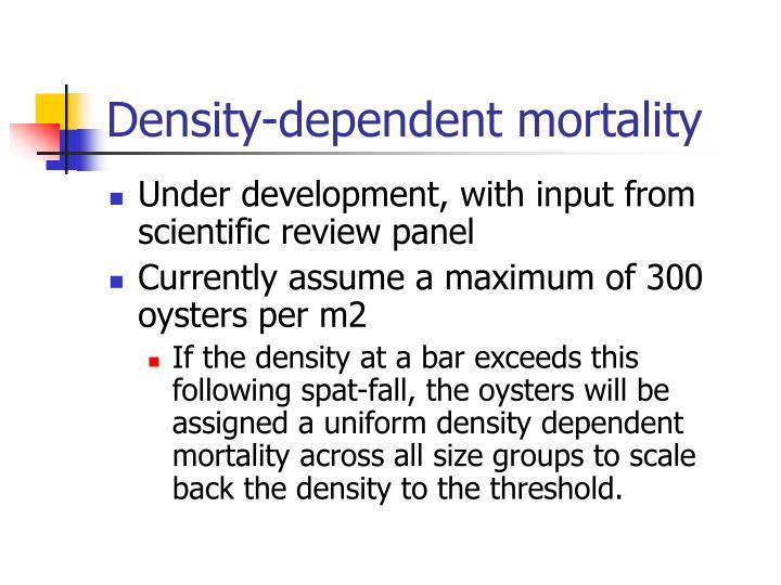 Density-dependent mortality