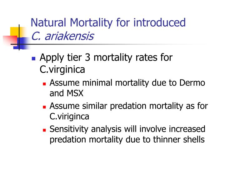 Natural Mortality for introduced