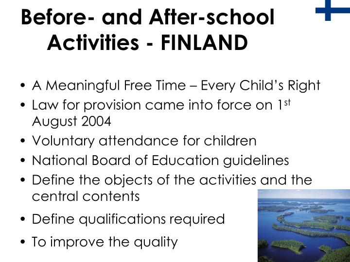 Before- and After-school Activities - FINLAND