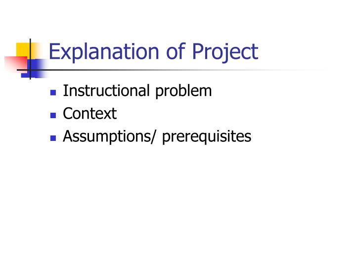 Explanation of project