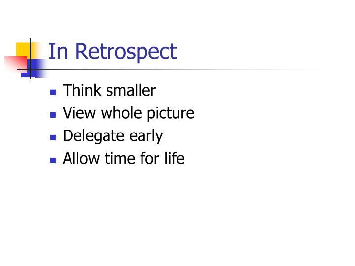 In Retrospect