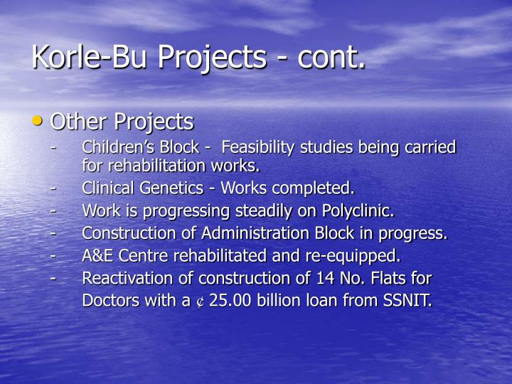 Korle-Bu Projects - cont.