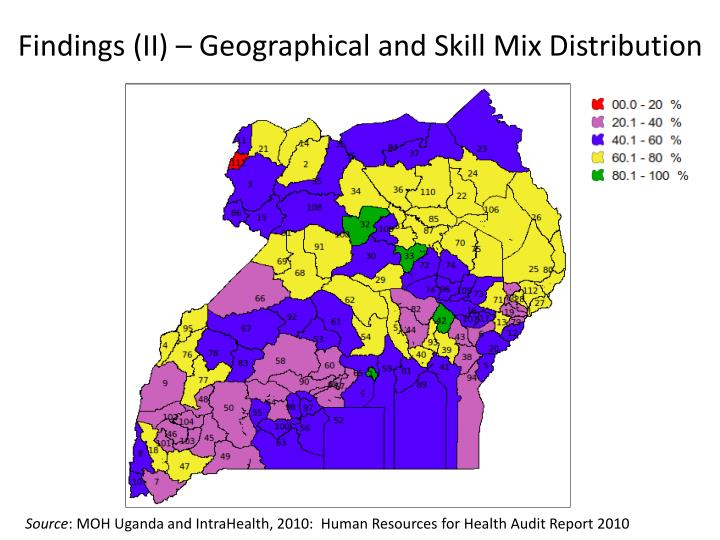 Findings (II) – Geographical and Skill Mix Distribution