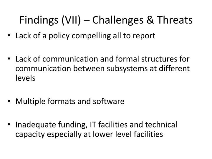 Findings (VII) – Challenges & Threats