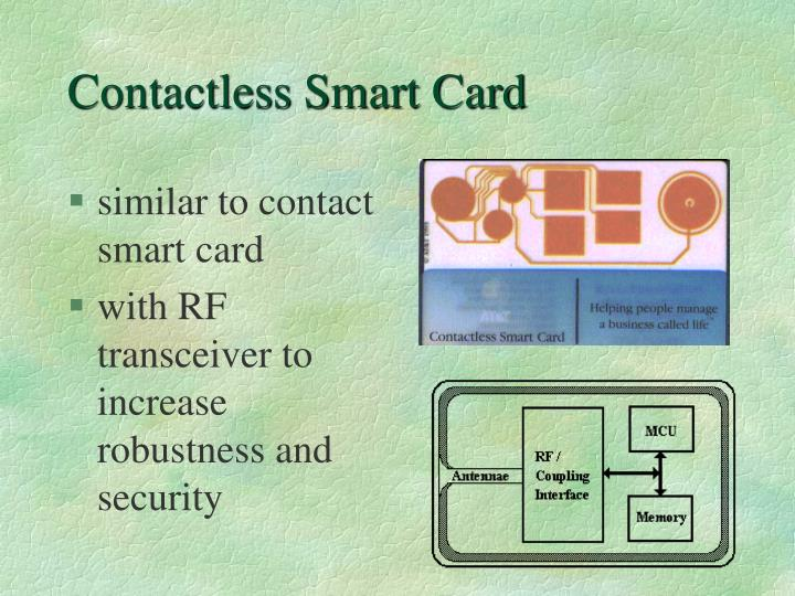 Contactless Smart Card