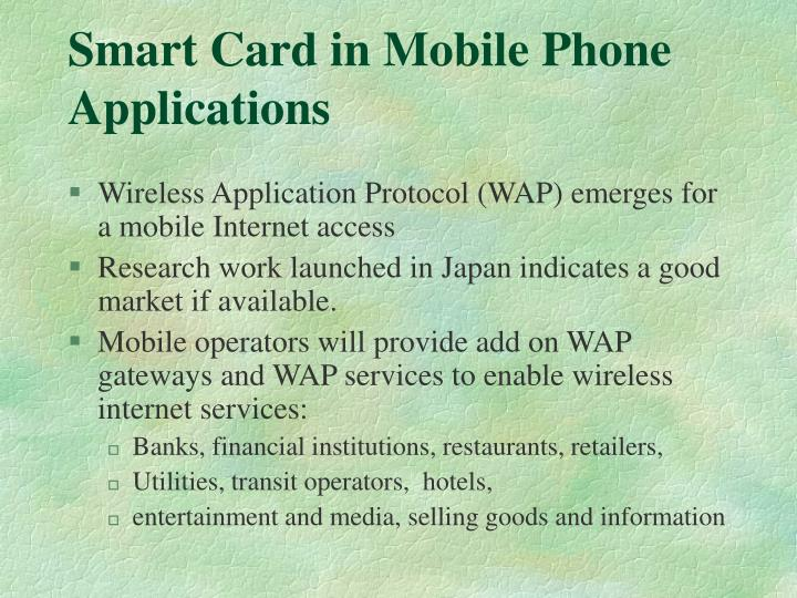 Smart Card in Mobile Phone Applications
