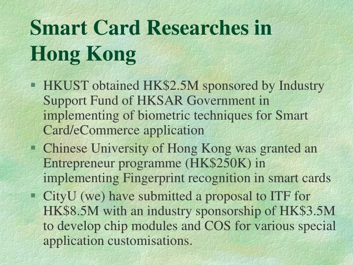 Smart Card Researches in Hong Kong