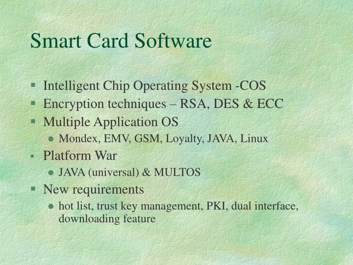 Smart Card Software