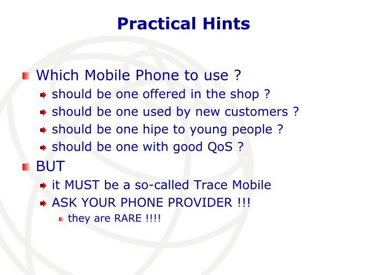 Practical Hints