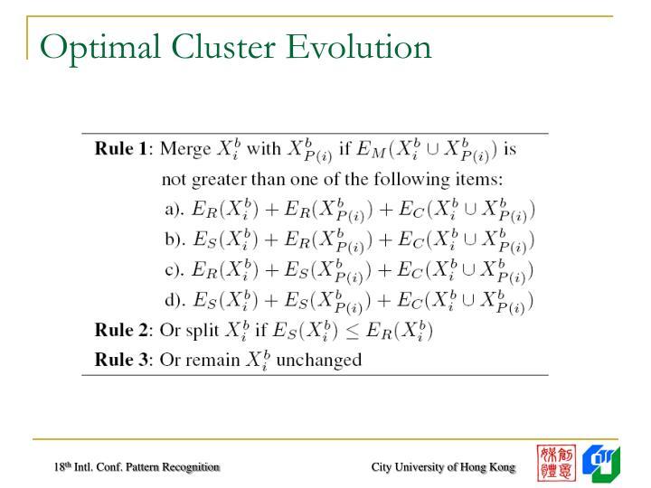 Optimal Cluster Evolution