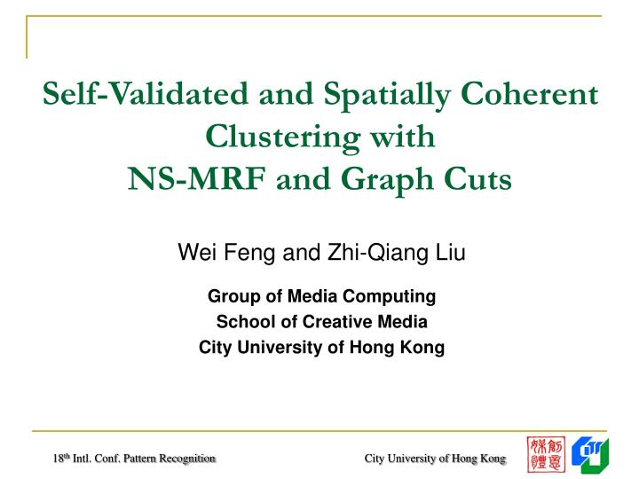 Self validated and spatially coherent clustering with ns mrf and graph cuts