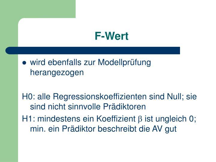 F-Wert