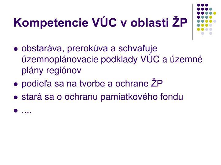 Kompetencie VÚC v oblasti ŽP