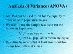 analysis of variance anova