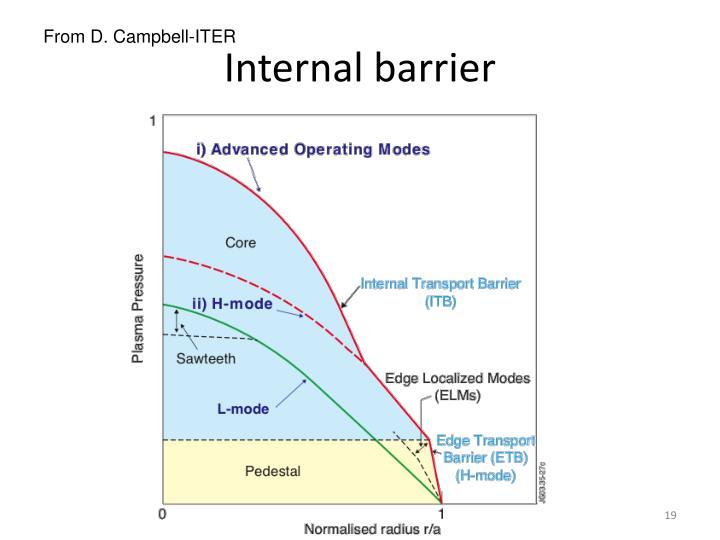 Internal barrier
