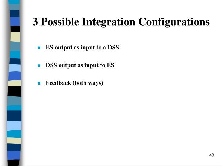 3 Possible Integration Configurations