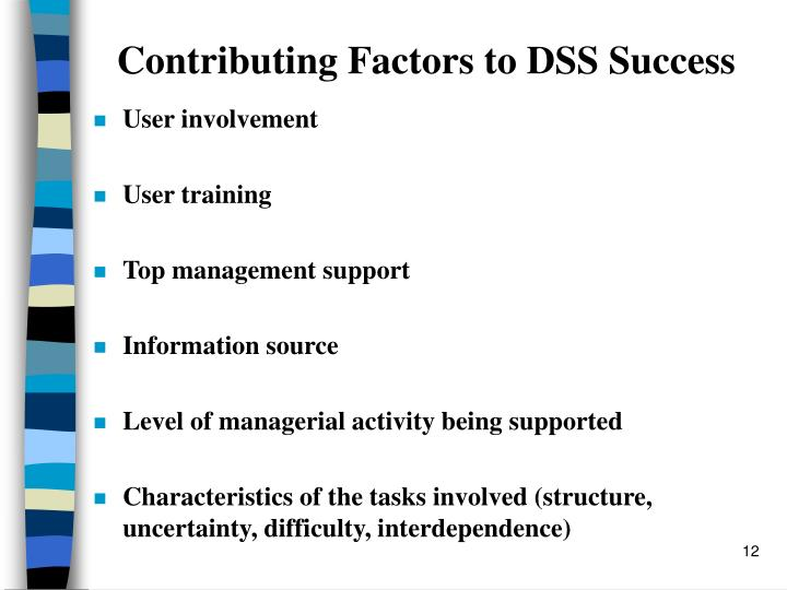 Contributing Factors to DSS Success