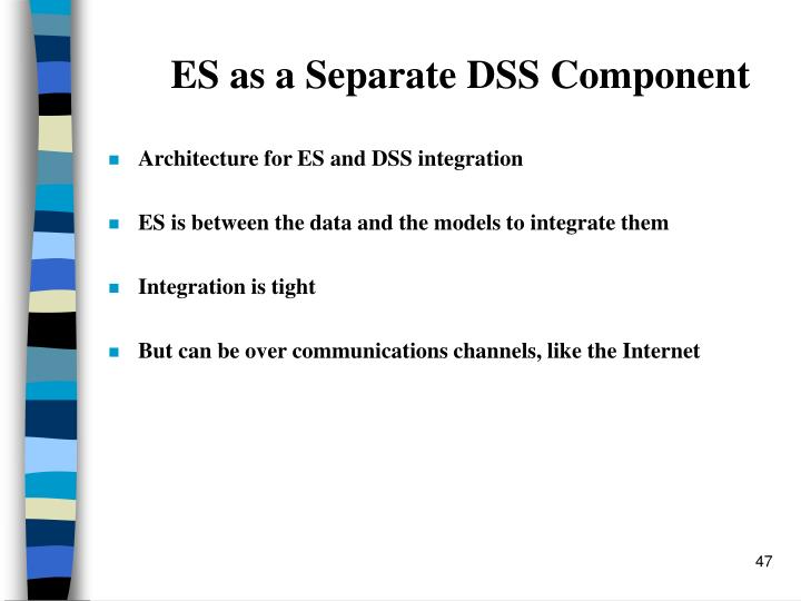 ES as a Separate DSS Component
