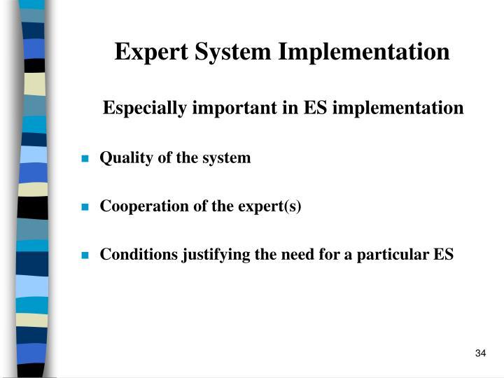 Expert System Implementation