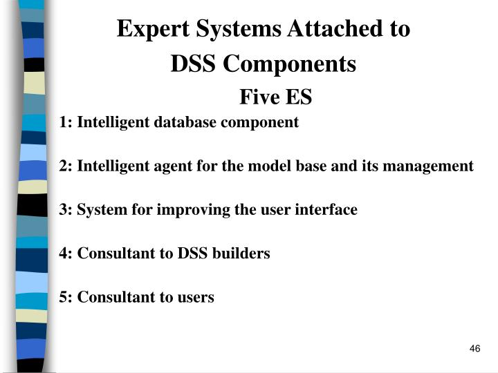 Expert Systems Attached to