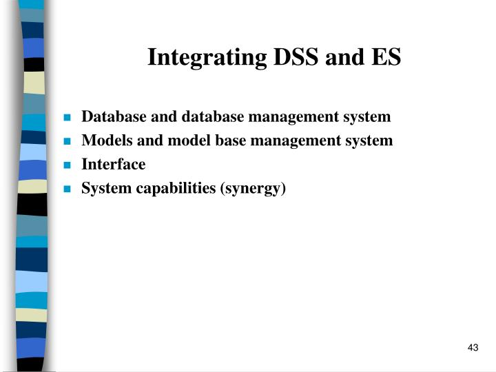 Integrating DSS and ES