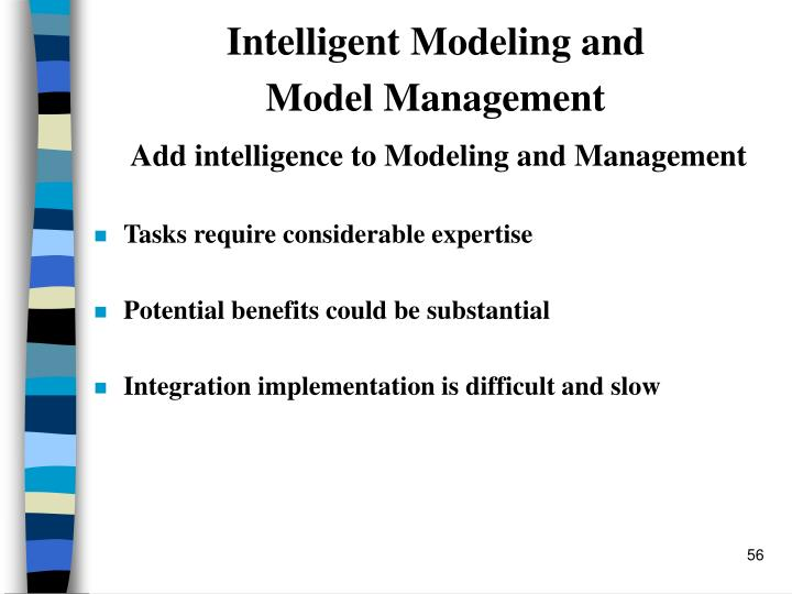 Intelligent Modeling and