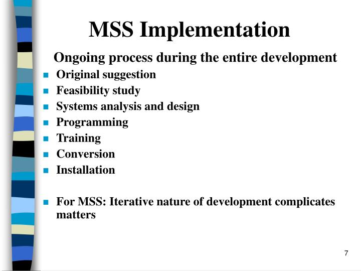 MSS Implementation