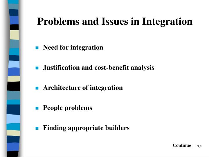 Problems and Issues in Integration