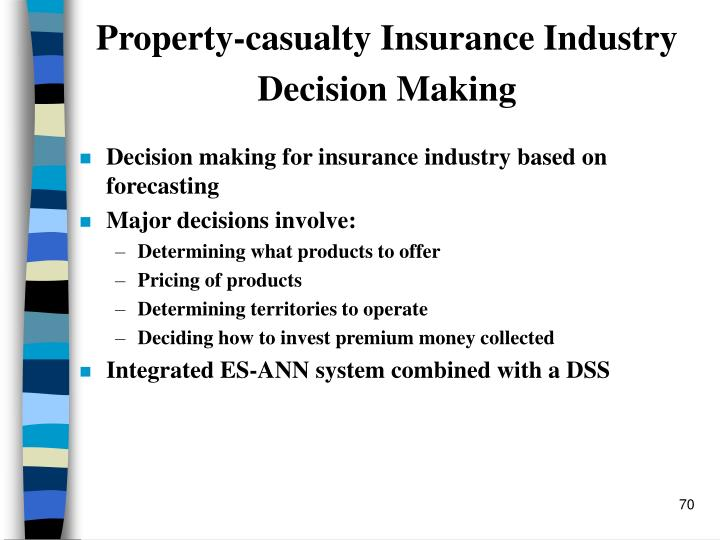 Property-casualty Insurance Industry