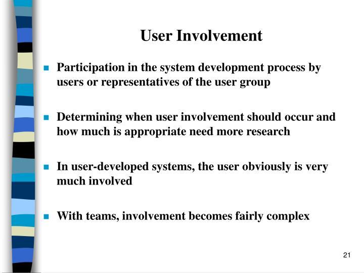 User Involvement
