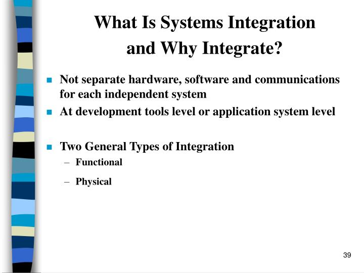 What Is Systems Integration