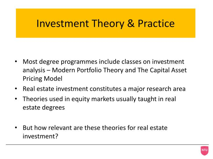 Investment Theory & Practice