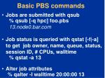 basic pbs commands