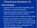 choosing a scheduler 4