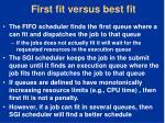 first fit versus best fit