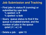 job submission and tracking