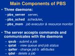 main components of pbs