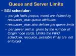 queue and server limits1