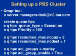 setting up a pbs cluster1