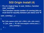 sgi origin install 4