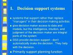 1 decision support systems