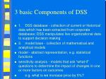 3 basic components of dss