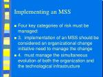 implementing an mss1