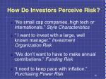 how do investors perceive risk1